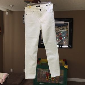 White stretchy ankle Buffalo Jeans